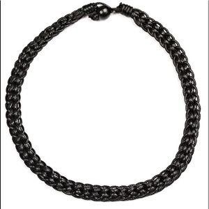 """Trail Guide"" Black Necklace for Men"